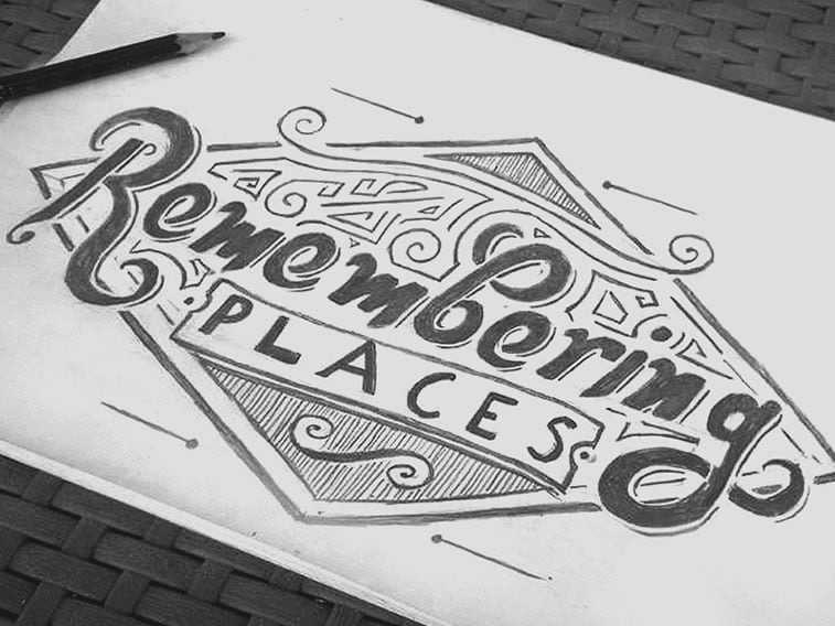 sketch the logo first on paper