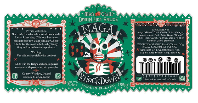 steve simpson illustrated packaging micks chilli 5