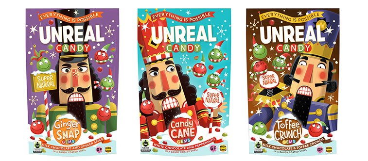 steve simpson illustrated packaging unreal candy 1