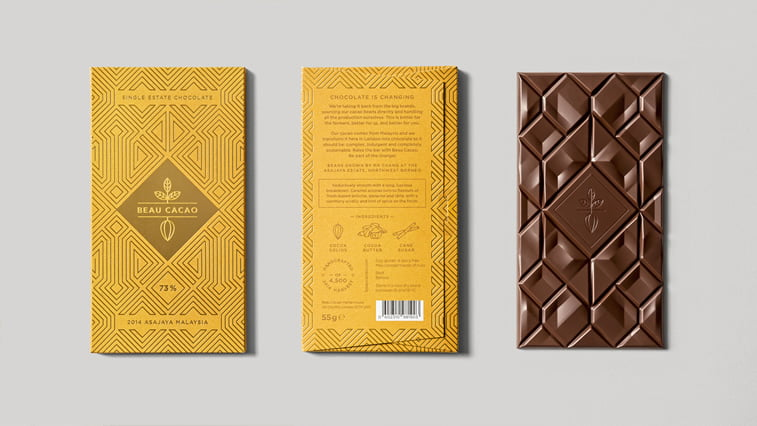 chocolate packaging design beau cocoa
