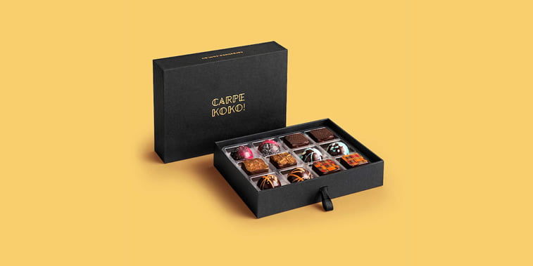 chocolate packaging design carpe koko