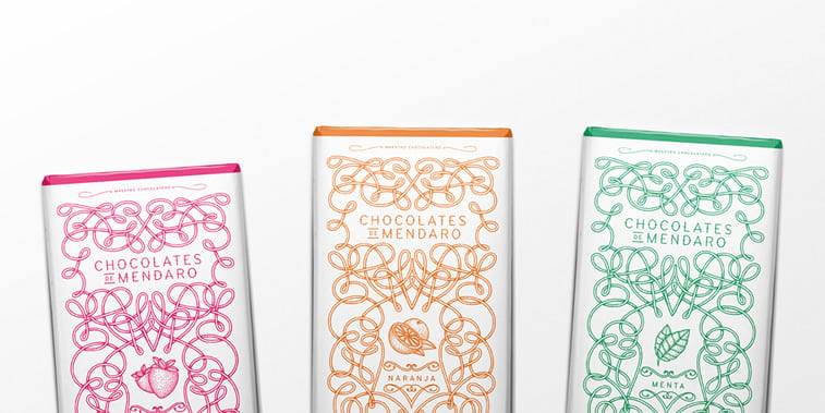 chocolate packaging design chocolates de mendaro