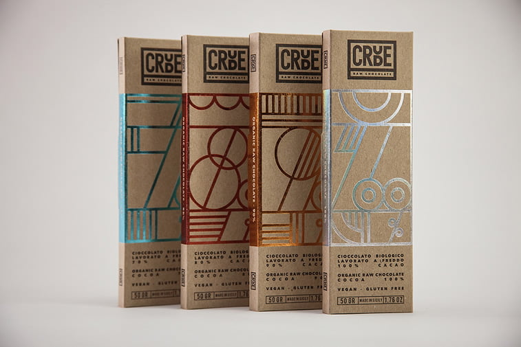chocolate packaging design crude raw chocolate