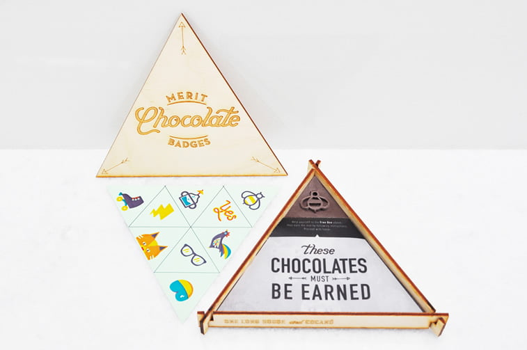 chocolate packaging design earning your merit