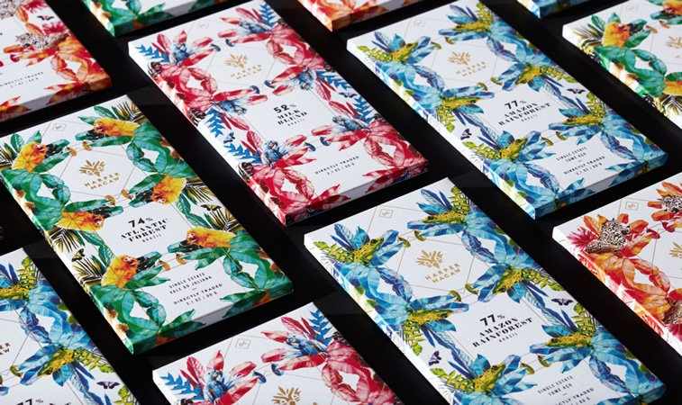 chocolate packaging design harper macaw chocolate
