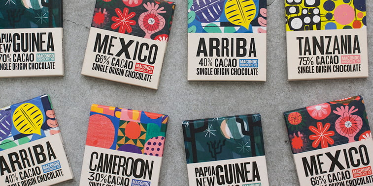 chocolate packaging design macondo chocolate