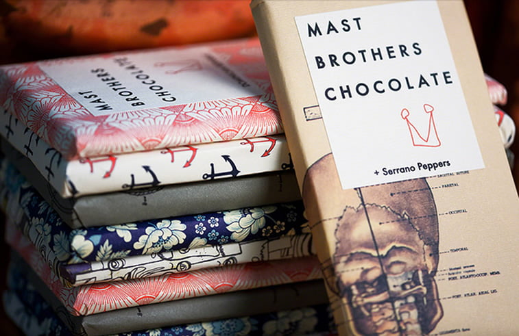 chocolate packaging design mast brothers