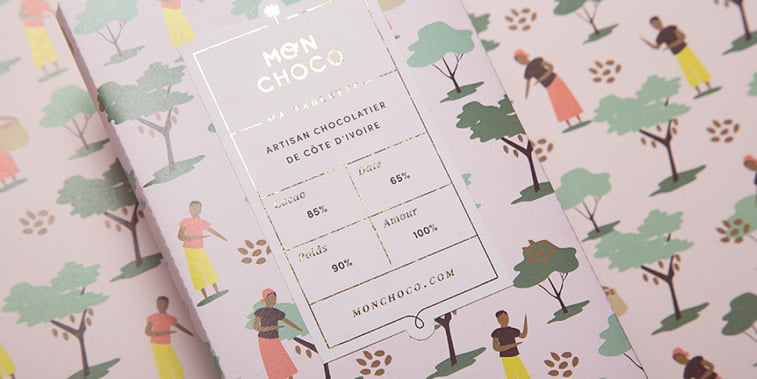 chocolate packaging design monchoco