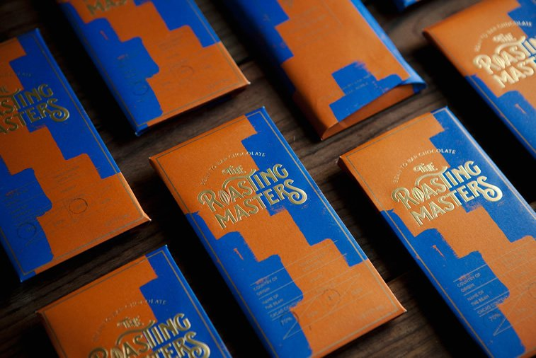 chocolate packaging design roasting masters