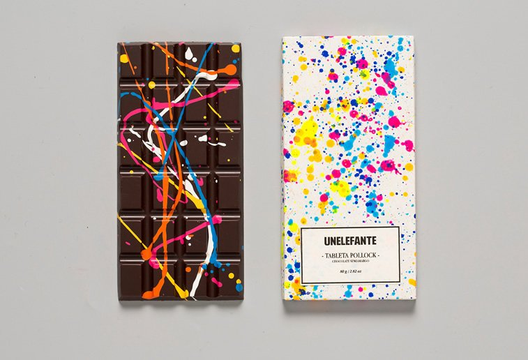 chocolate packaging design unelefante