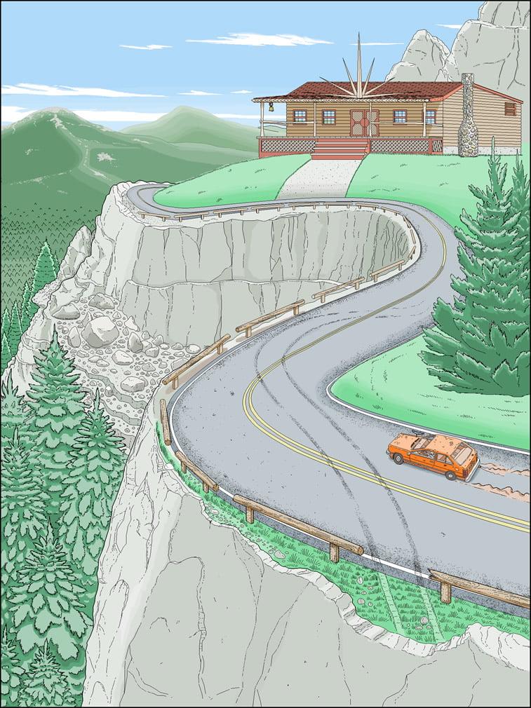 Detaljne ilustracije Patrika Hajnsa rađene u Pejntu 1