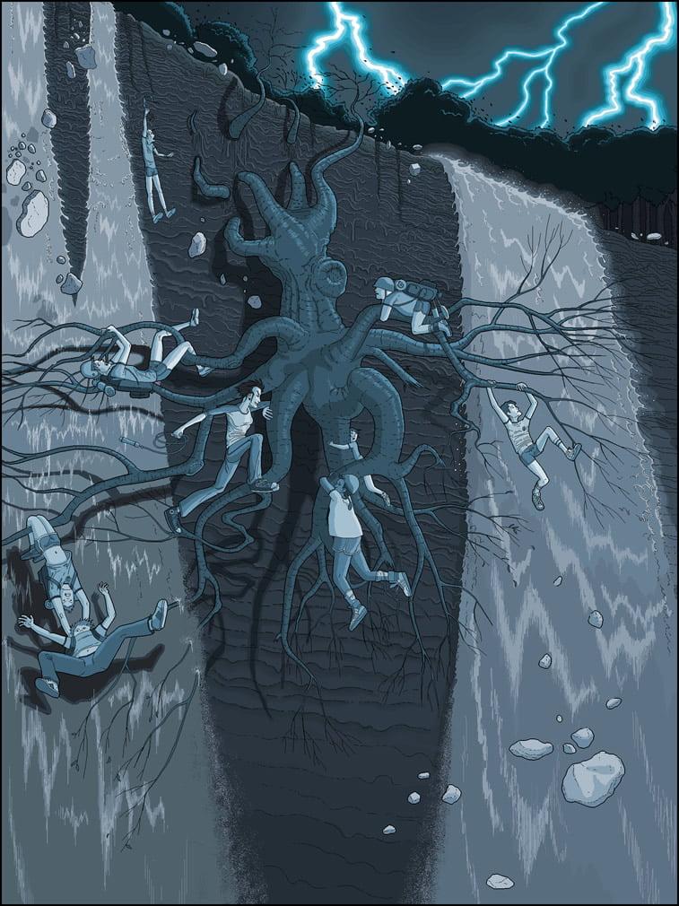 Detaljne ilustracije Patrika Hajnsa rađene u Pejntu 4
