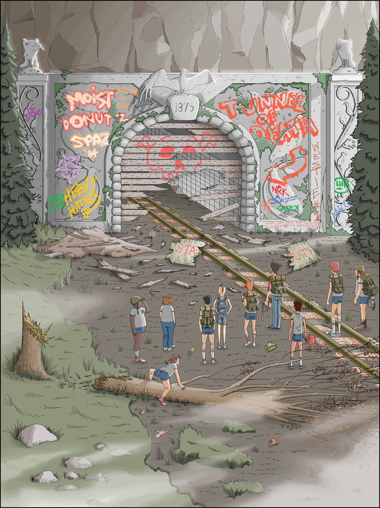 Detaljne ilustracije Patrika Hajnsa rađene u Pejntu 6