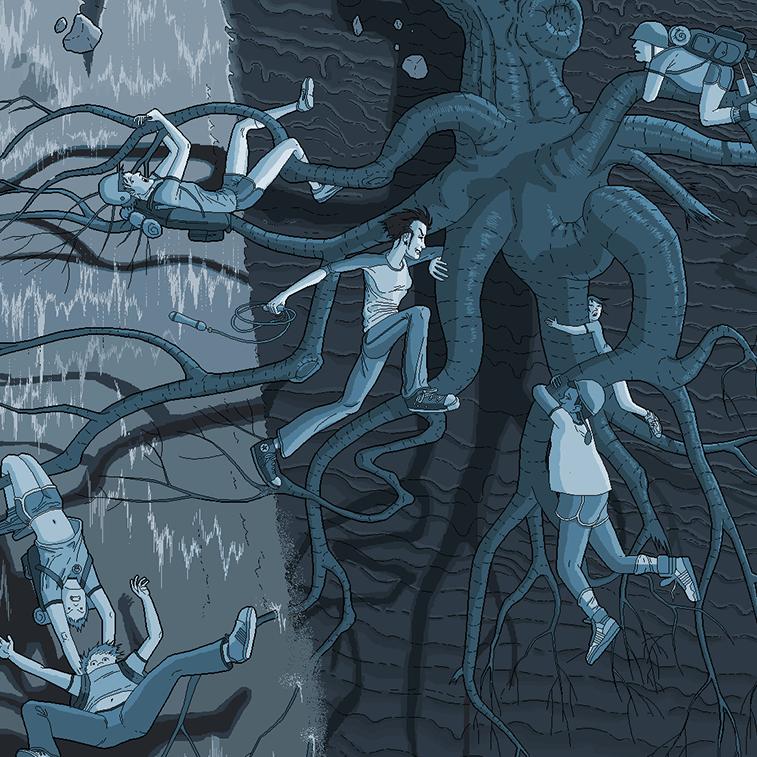 Detaljne ilustracije Patrika Hajnsa rađene u Pejntu 757