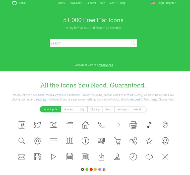 free icons icons8