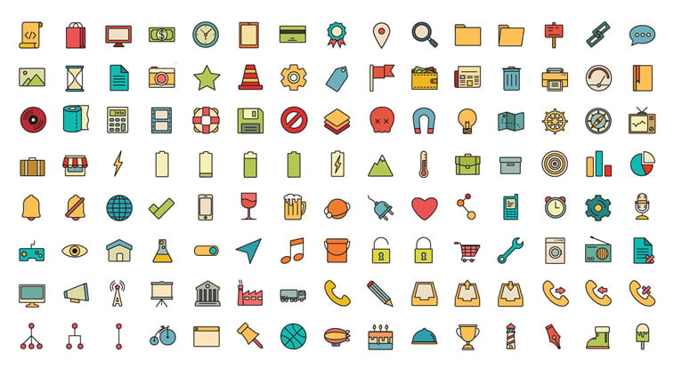 free retro icons vol 1