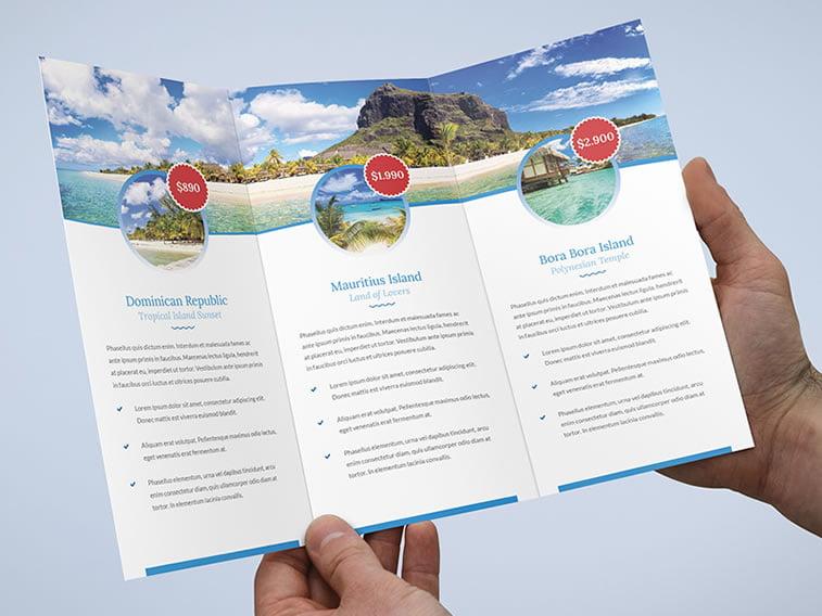 dizajn turističkih brošura 12 putovanja na mauricijus
