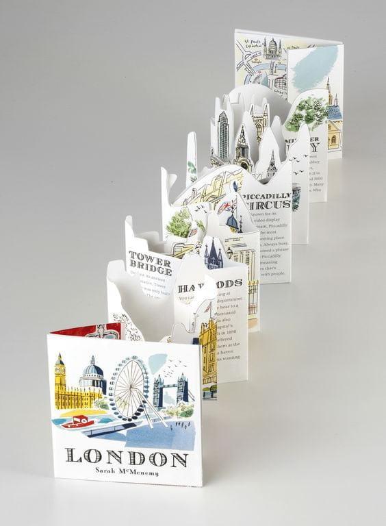 dizajn turističkih brošura 15 kreativna brošura za london - isečena