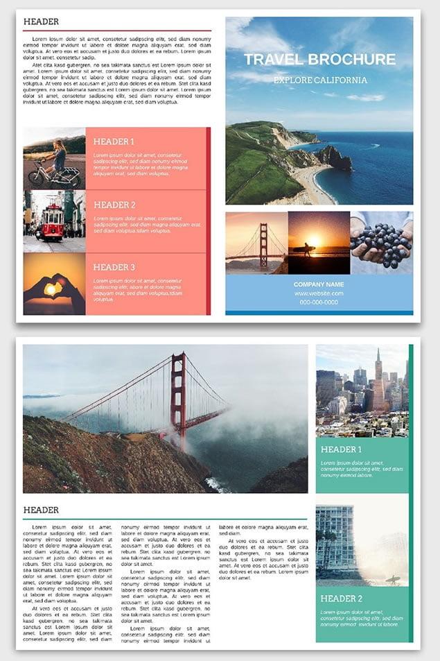 dizajn turističkih brošura 16 posetite san francisko