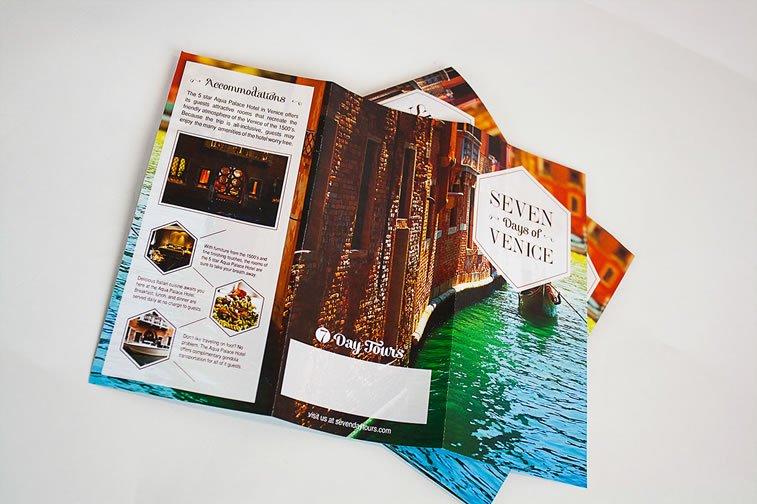 dizajn turističkih brošura 2 venecija italija