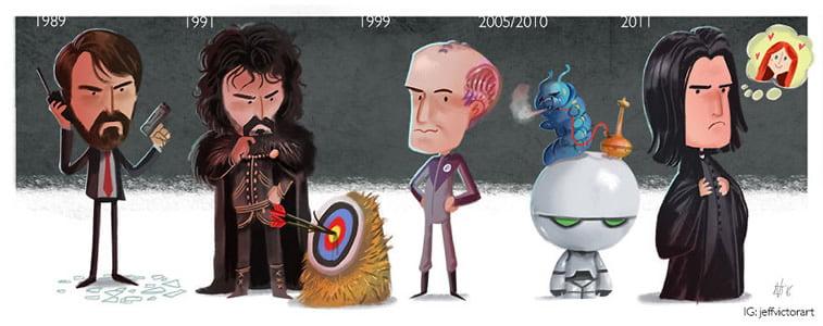 Ilustracije poznatih ličnosti kroz karijeru 10