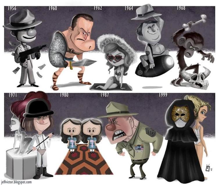 Ilustracije poznatih ličnosti kroz karijeru 19