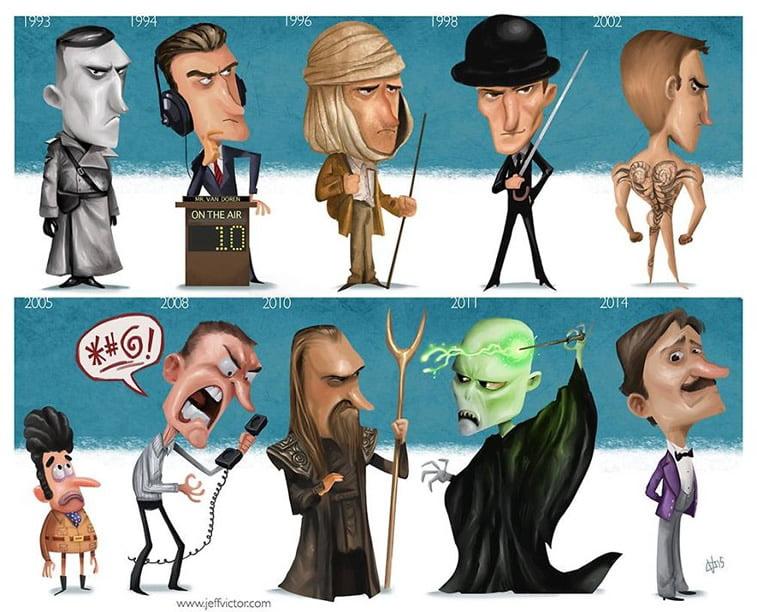 Ilustracije poznatih ličnosti kroz karijeru 23