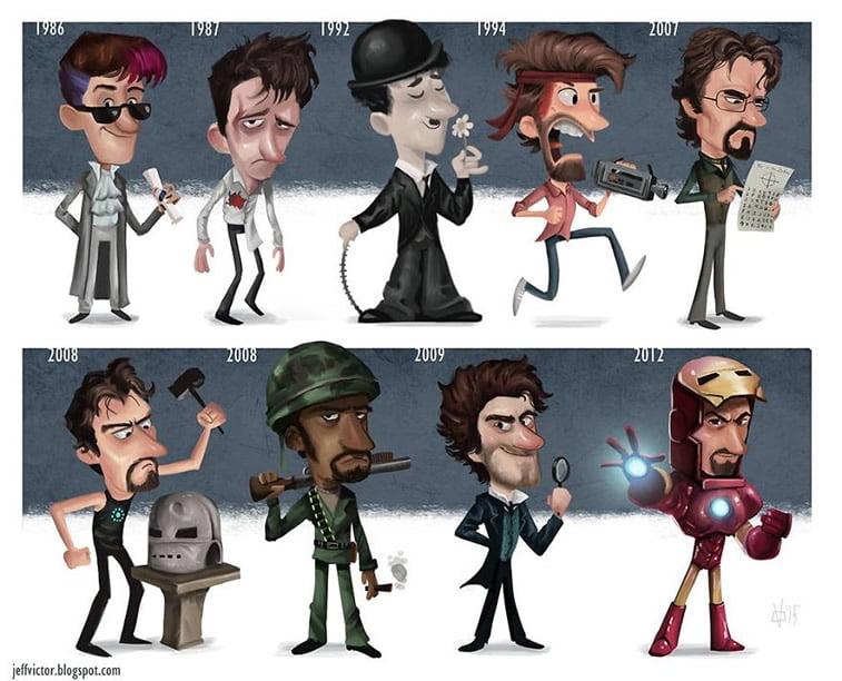 Ilustracije poznatih ličnosti kroz karijeru 8