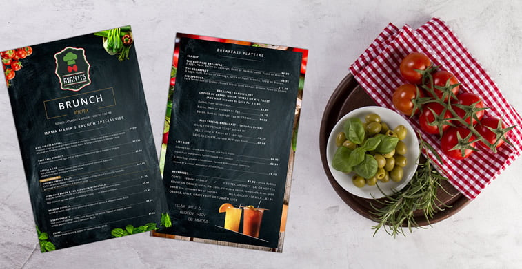 Restoranski meniji i jelovnici – 15 odličnih primera 1