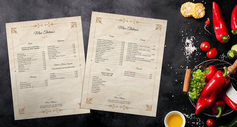 Restoranski meniji i jelovnici – 15 odličnih primera 11