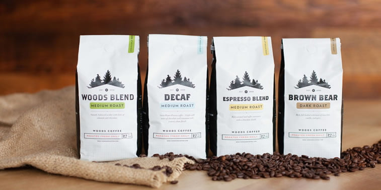 coffee packaging woods 1
