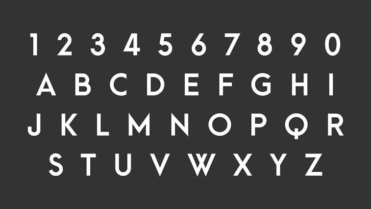 Najbolji besplatni fontovi za logoe: leto 2017. godine 8