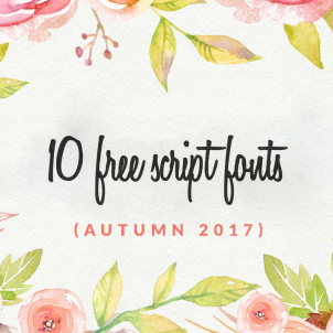 10 free script fonts (autumn 2017)