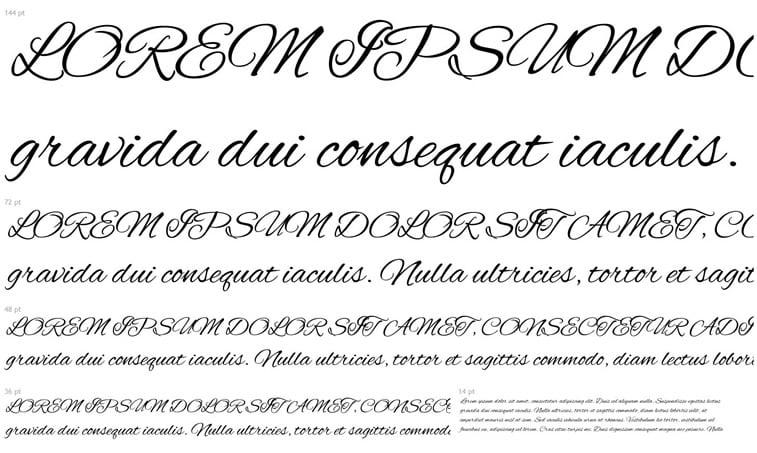 10 free script fonts (autumn 2017) 4