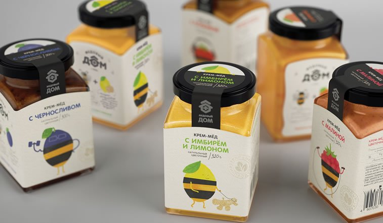 Favori Beautiful honey packaging design for your inspiration OH07