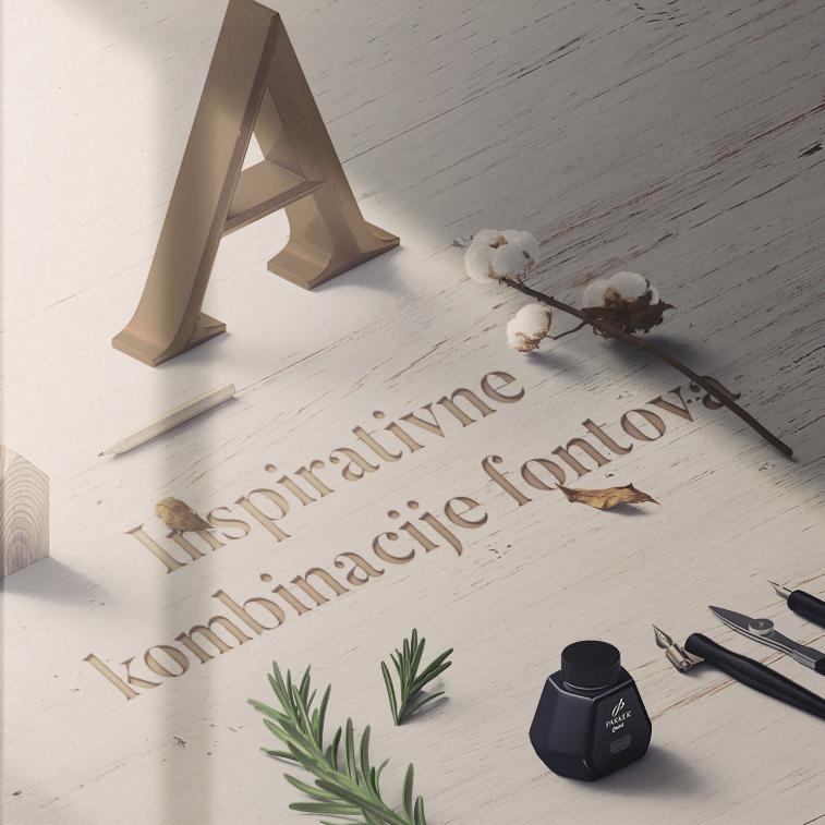 Inspirativne kombinacije fontova