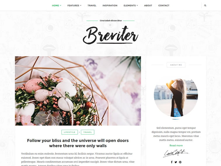 breviter wordpress theme