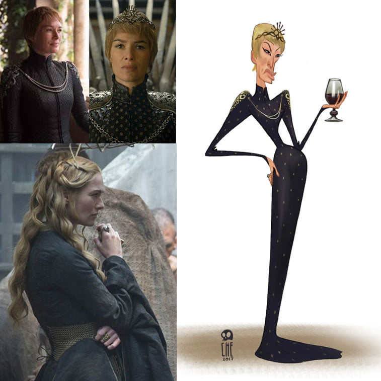 game of thrones caricature tata che cercei lannister