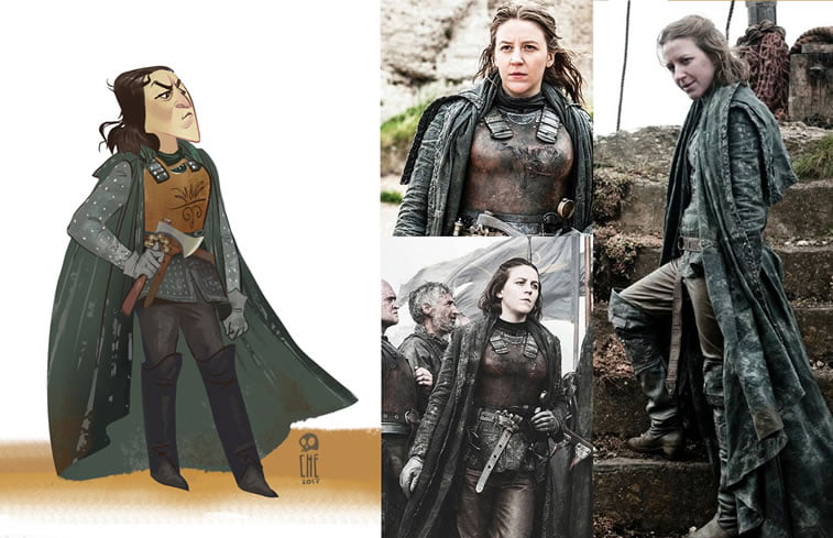 game of thrones caricature tata che yara greyjoy