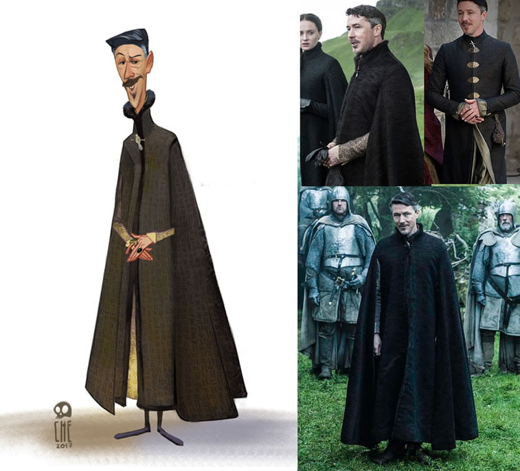 game of thrones caricature tata che petyr baelish