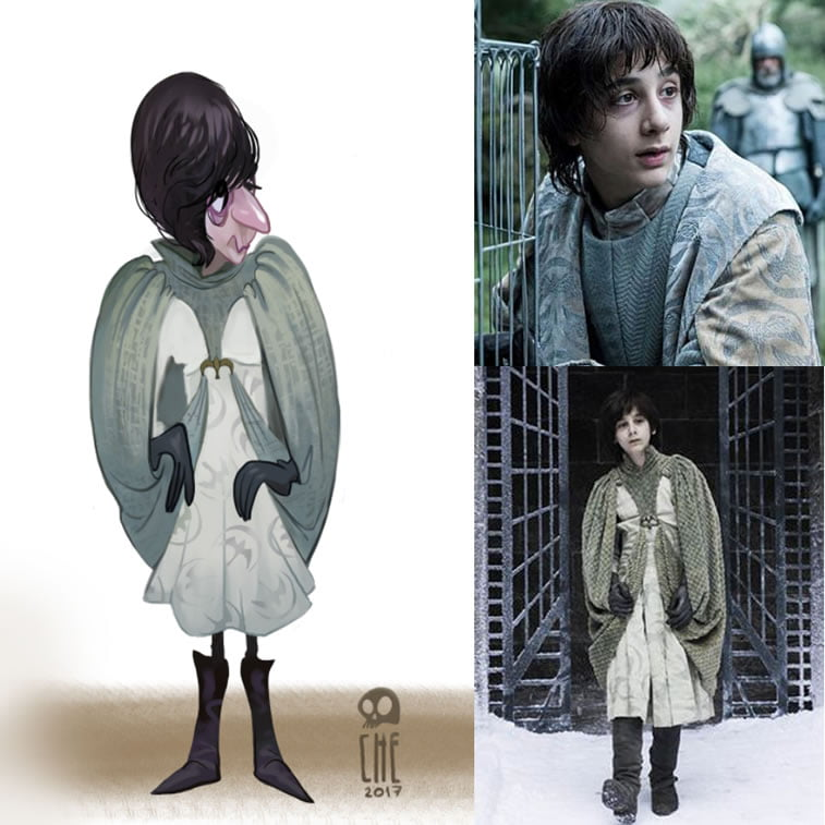 game of thrones caricature tata che sweetrobin arryn