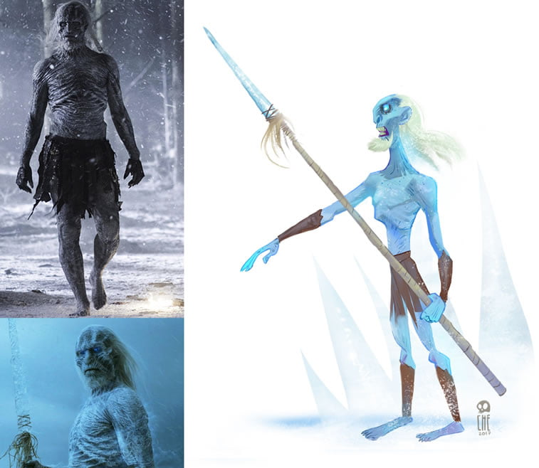 game of thrones caricature tata che the night king
