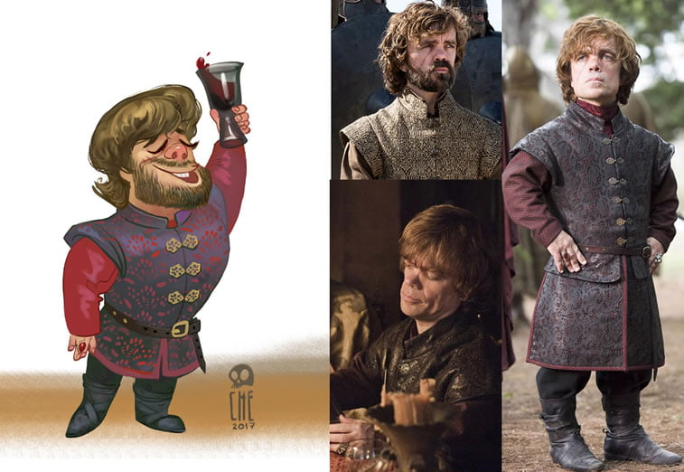 game of thrones caricature tata che tyrion lannister
