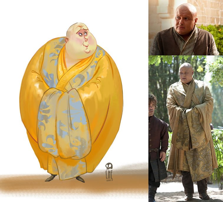 game of thrones caricature tata che varys