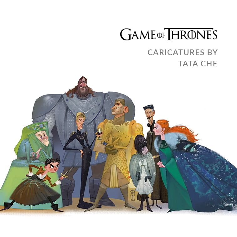 Game of Thrones caricatures by Tata Che