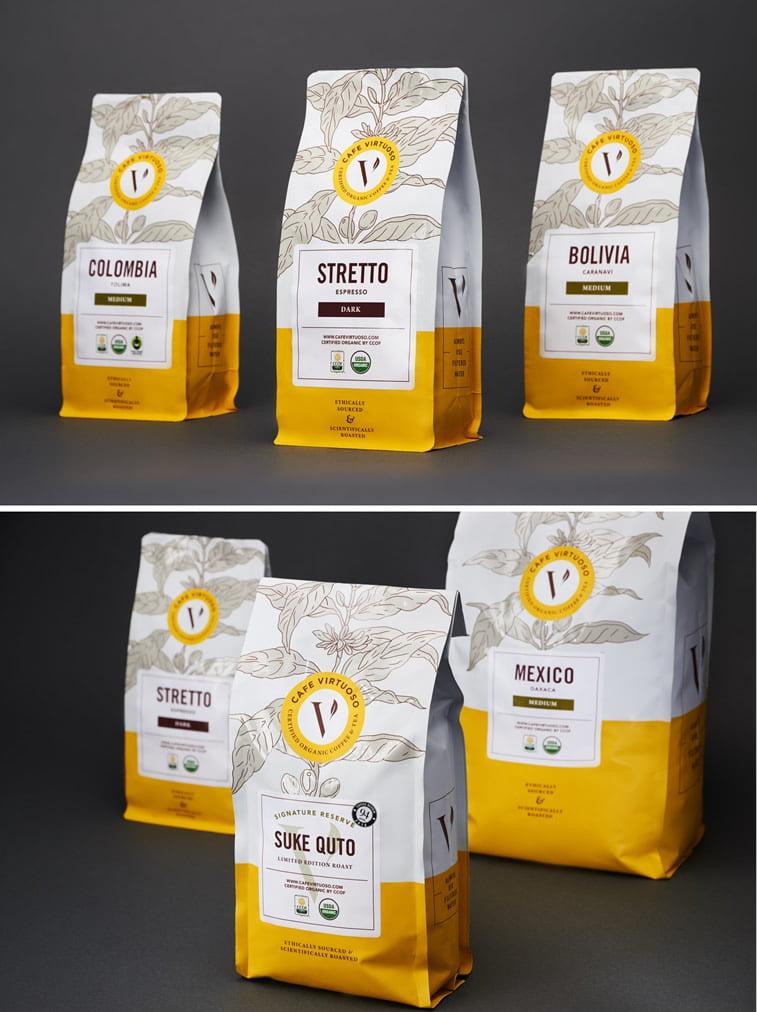 Dizajn ambalaže za kafu: 20 inspirativnih primera – Cafe virtuoso