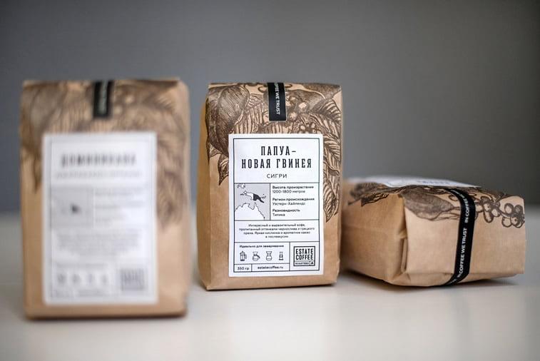 Dizajn ambalaže za kafu: 20 inspirativnih primera – Estate coffee roasters