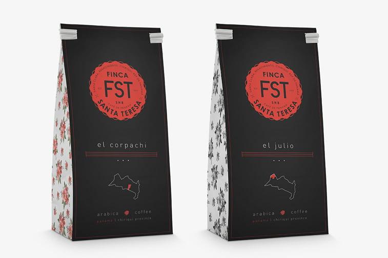 Dizajn ambalaže za kafu: 20 inspirativnih primera – Finca Santa teresa hard bean coffee