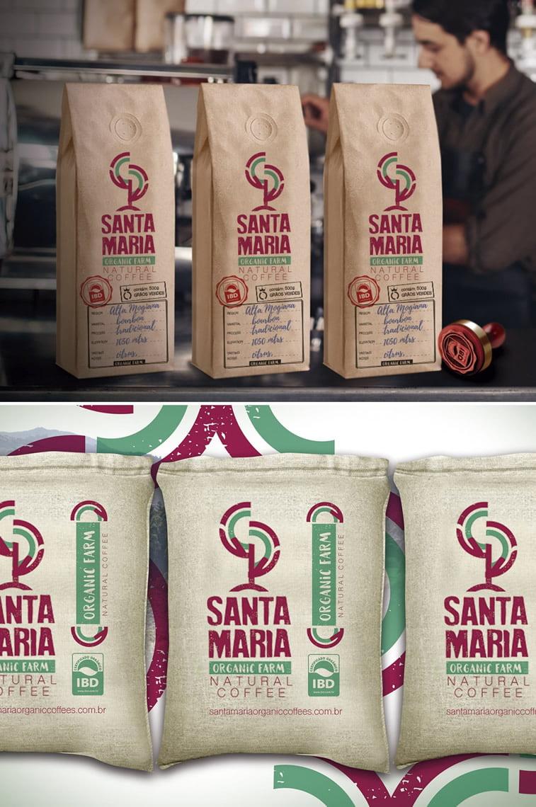 Dizajn ambalaže za kafu: 20 inspirativnih primera – Santa Maria farm