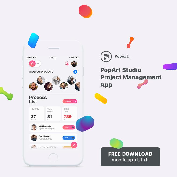 Free download: mobile app UI kit
